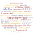 Happy New Year in different languages vector image vector image