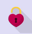 heart lock icon set of great flat icons with vector image vector image
