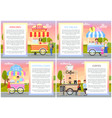 ice cream and cotton candy set vector image vector image