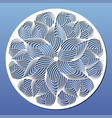 laser cut template round panel or mandala vector image vector image