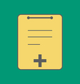 Medical Notebook Icon vector image vector image