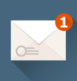 New incoming message notification icon - envelope vector image vector image