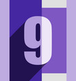 numbers background flat design vector image vector image