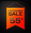 orange pennant with inscription halloween salen vector image vector image