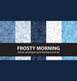 pentagon pattern set frosty morning seamless vector image vector image