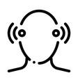 pin ears temple pain silhouette headache vector image