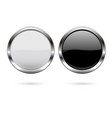 round glass buttons black and white icons with vector image vector image