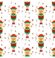 santa claus elf kids cartoon elf helpers vector image