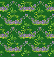 seamless pattern with flowers and calligraphic vector image vector image