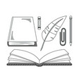 set of hand draw education cartoons vector image vector image