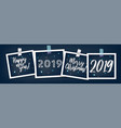 set of new year holiday stickers vector image