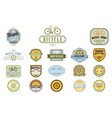 set of original bicycle themed emblems vector image vector image