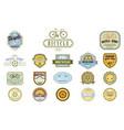 Set of original bicycle themed emblems