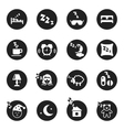 Set of round icons about sweet dreams and bed time vector image