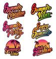 set summer emblems design elements vector image vector image