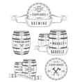 Set Wooden Casks Badges and Cooperage Logo vector image vector image