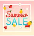 summer sale banner poster flyer slices vector image vector image