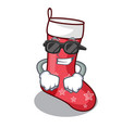super cool cartoon christmas socks for gifts vector image