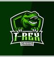 t-rex gaming esports logo vector image