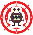 target with brown monster flat style vector image