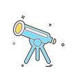 telescope icon design vector image