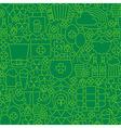 Thin Green Line Irish Saint Patrick Day Seamless vector image vector image