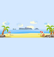 tropical beach seaside party landscape vector image vector image
