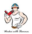 workman vector image