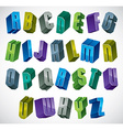 3d colorful letters geometric alphabet vector image vector image