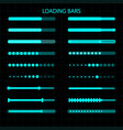 a loading bar a set of download indicators vector image