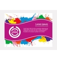 Abstract flayer vector image vector image