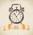 Alarm clock hand drawn vector image