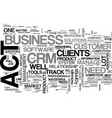 are you up for the act in your crm system text vector image vector image