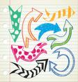 arrow doodle vector image vector image