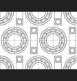 ball bearing contour vector image vector image