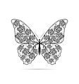 Beautiful butterfly with floral pattern vector image vector image
