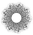 Beautiful Deco Black Mandala Patterned vector image vector image