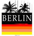 berlin typography tee graphic design vector image vector image
