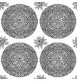 black and white seamless pattern with lotus vector image vector image