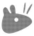 black pixel mouse head icon vector image