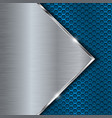 blue metal perforated background with steel vector image vector image