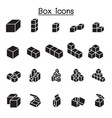 box icons graphic design vector image