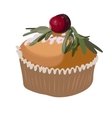 Cake with sugar pouder icon design element vector image