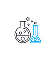 chemical experiments linear icon concept chemical vector image vector image