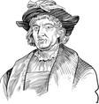 christopher columbus portrait vector image vector image