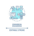 commercial engineering turquoise concept icon vector image vector image
