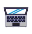 computer icon cartoon blue lines vector image vector image