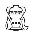 creative teapot line icon concept sign outline vector image vector image