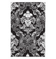 curtain is weaved in a damask pattern of white vector image vector image