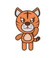 cute tiger toy kawaii image vector image